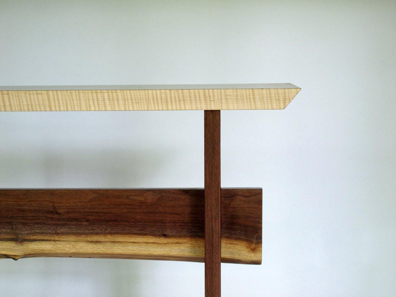custom wood table narrow console table modern hall table. Black Bedroom Furniture Sets. Home Design Ideas