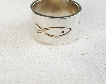 Sterling Silver Wide Band Ring .925