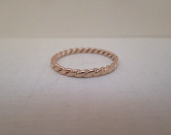 Vintage 14K Gold Braided Band