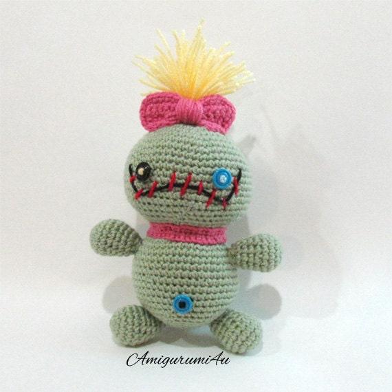 Stitch Amigurumi Doll Pattern : Disney Scrump Doll Lilo and Stitch Amigurumi Crochet Handmade