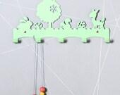 Forest Animals Children's Coat Rack / Nursery Wall hanger / Kid's Coat Rack / Kids Room hooks / Woodland Wall Decor