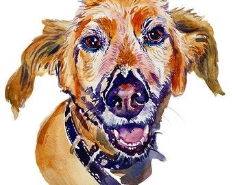 Pet Portrait, Painting, Custom Portrait, Watercolor Painting, Dog Portrait,Dog lover,Dog art