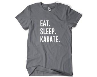 Karate Shirt-Eat Sleep Karate T Shirt Karate Gift Men Women