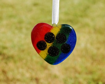 Rainbow Bridge Ornament, Rainbow Paw Print Sun Catcher, Pet Memorial Ornament, Pet Loss Art, Remembrance Artwork, Rainbow Paw Print