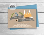 Where The Wild Things Are Baby Shower invitation - printable - Wild Rumpus invite - book themed shower for boy, girl or unisex
