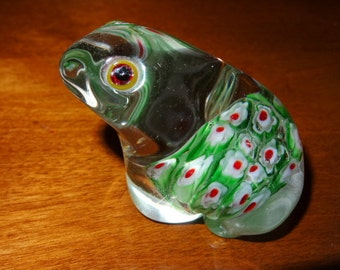 Millefiore Frog Paperweight