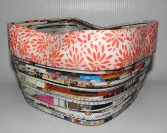 Handmade Magazine Paper Bowl  freeform-Dish