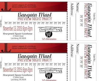 PRINTED 2x5 Event Tickets
