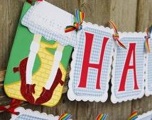 Wizard of Oz Themed Birthday Banner