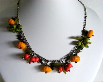 Pumpkins, Apples and Witches Jewellery Set