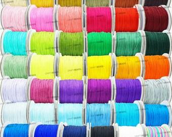 0.8mm Chinese Knot Nylon Cord Shamballa Macrame Beading Kumihimo String 50 Yards Spool - Pick Your Color!