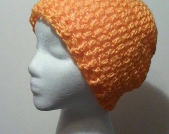 FREE SHIPPING, Orange Crochet Hat, Bright Orange Crochet Beanie, Orange Slouchy Hat, Crochet Hats, Orange Hat,  Ready to Ship, B34-810-1