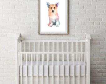 Watercolour German Shepherd Puppy Love Dog Printable Wall Art Print