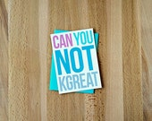 Snarky Blank Greeting Card | Can You Not K Great Girlfriends BFF Funny Sarcastic Mean Girls Roommates Just Because Any Occasion Note Card