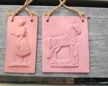 German Gingerbread Cookie Molds clay pottery kitchen decor