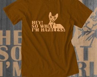 Hairless Cat T shirt Sphynx Cat Shirt Plus Size Women's Clothing Cat Gifts Funny Cat Tshirt