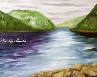 Searching, Canadian Landscape, Oil Painting, Saguenay, Quebec
