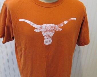 Texas University Longhorns T Shirt Men's Size Large by Anvil