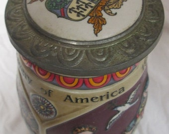 vintage 1989 Budweiser Discover America Series NINA Stein