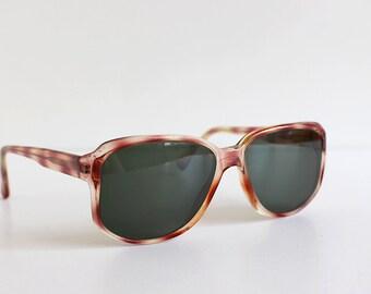 Vintage Sunglasses, Brown Plastic Frame, Vintage Spectacles, Soviet Eyeglasses, Retro Accessories, from USSR 1970s