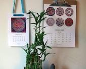 100 Mandalas 2016 Printable Calendars - Digital Download (Two Calendar Bundle)