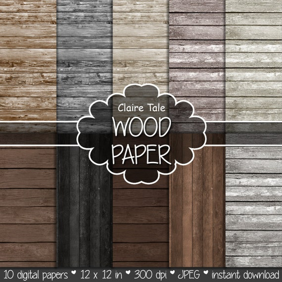 "Wood digital paper: ""WOOD PAPER"" with distressed wood background, wood texture, rustic wood, scrapbooking wood, wood photography backdrop"
