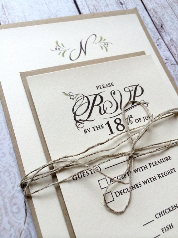 Fall Wedding Invitations Rustic Wedding Invitation Suite