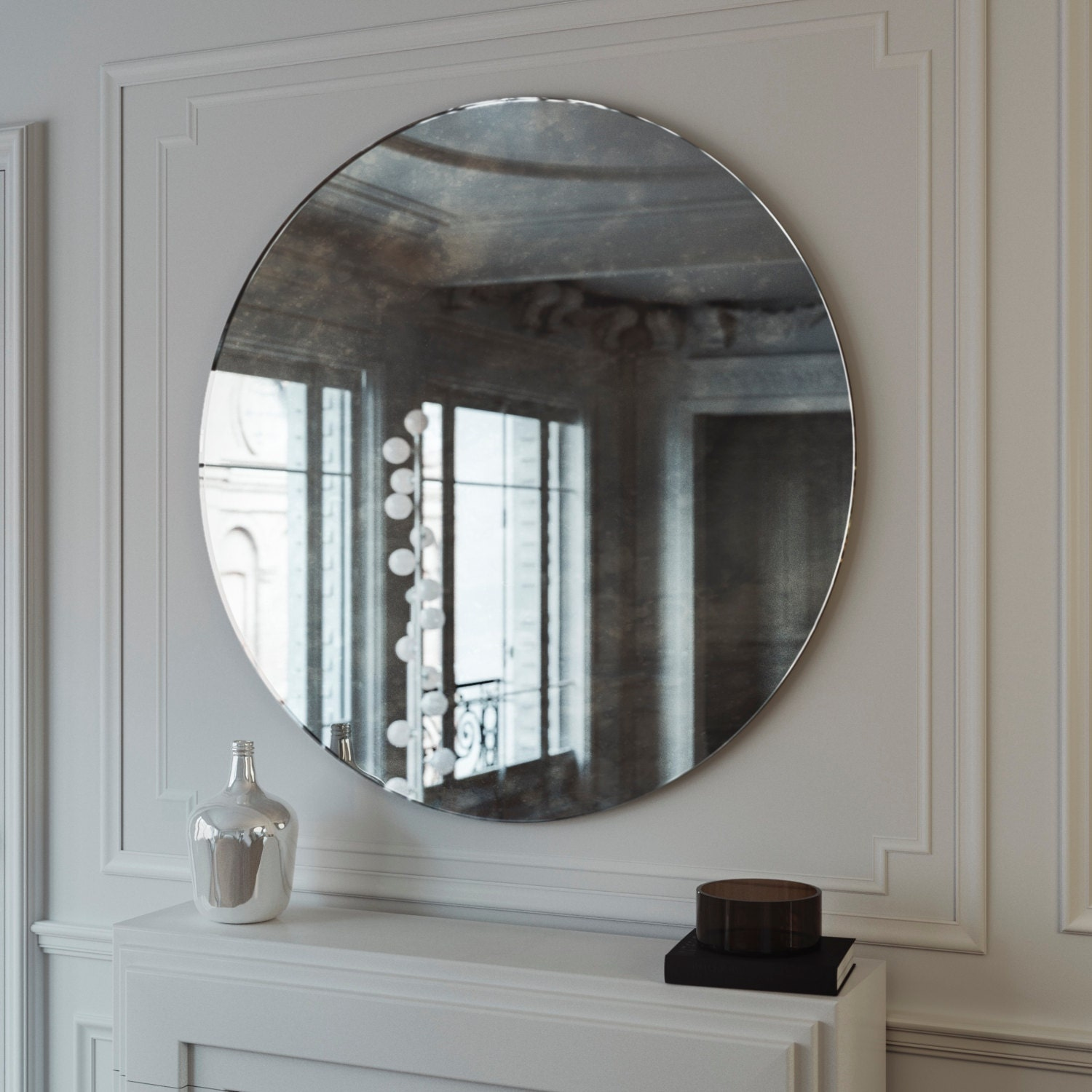 Antiqued wall mirror antiqued glass mirror custom antiqued for Custom mirror glass