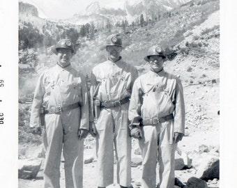 Gold Miners Vintage Snapshot Photo