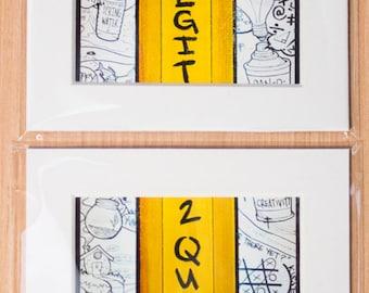 2 Legit 2 quit 4x6 (timeS two) Diptych Print