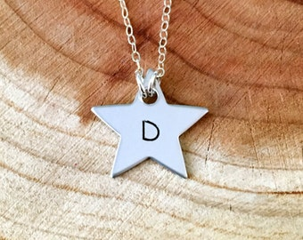 Initial And Star Necklace