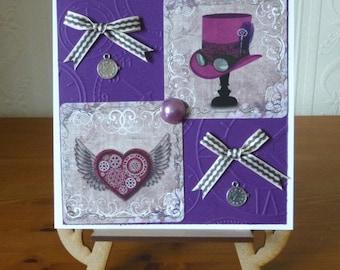 Ladies Steampunk Birthday Card