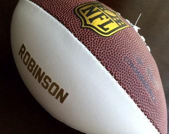 Personalized Custom Wilson Mini NFL Football Groomsman, Best Man, Ring Bearer, Usher, Wedding, Baby, Birth Announcement, Sports Team Gift