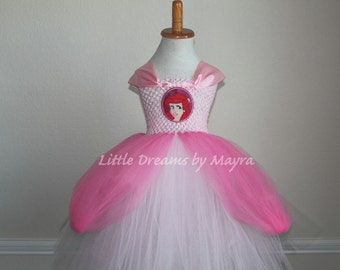 Princess Ariel inspired tutu dress, Princess Ariel pink gown inspired, The little mermaid gown inspired size nb to 12years,