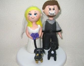 Custom wedding cake topper,  wedding cake topper, pet wedding cake topper