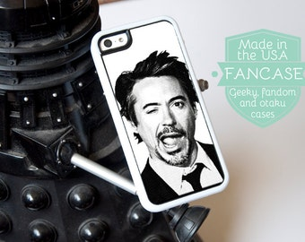 Robert Downey Jr iPhone Case Robert Downey Jr iPhone 6 Case iPhone 6S Case Tony Stark iPhone 5 Case iPhone 5s Case Avengers iPhone Case RDJ