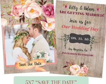 Save the Date, Engagement Announcement Template - Digital Download - E8