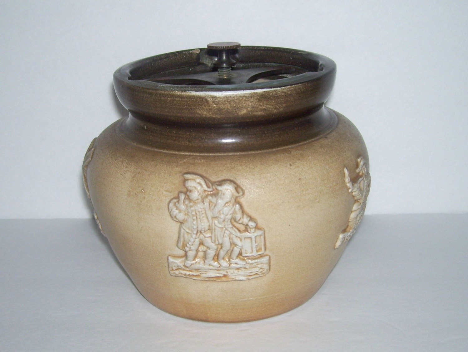 Bourne Denby Pottery Tobacco Jar Humidor Country Drinking