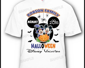 7 Pack Halloween Family Disney Mickey Minne Mouse Vacation T-Shirts