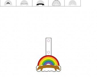 Rainbow Bridge  - Dog - Cat - In The Hoop - Snap/Rivet Key Fob - DIGITAL Embroidery Design