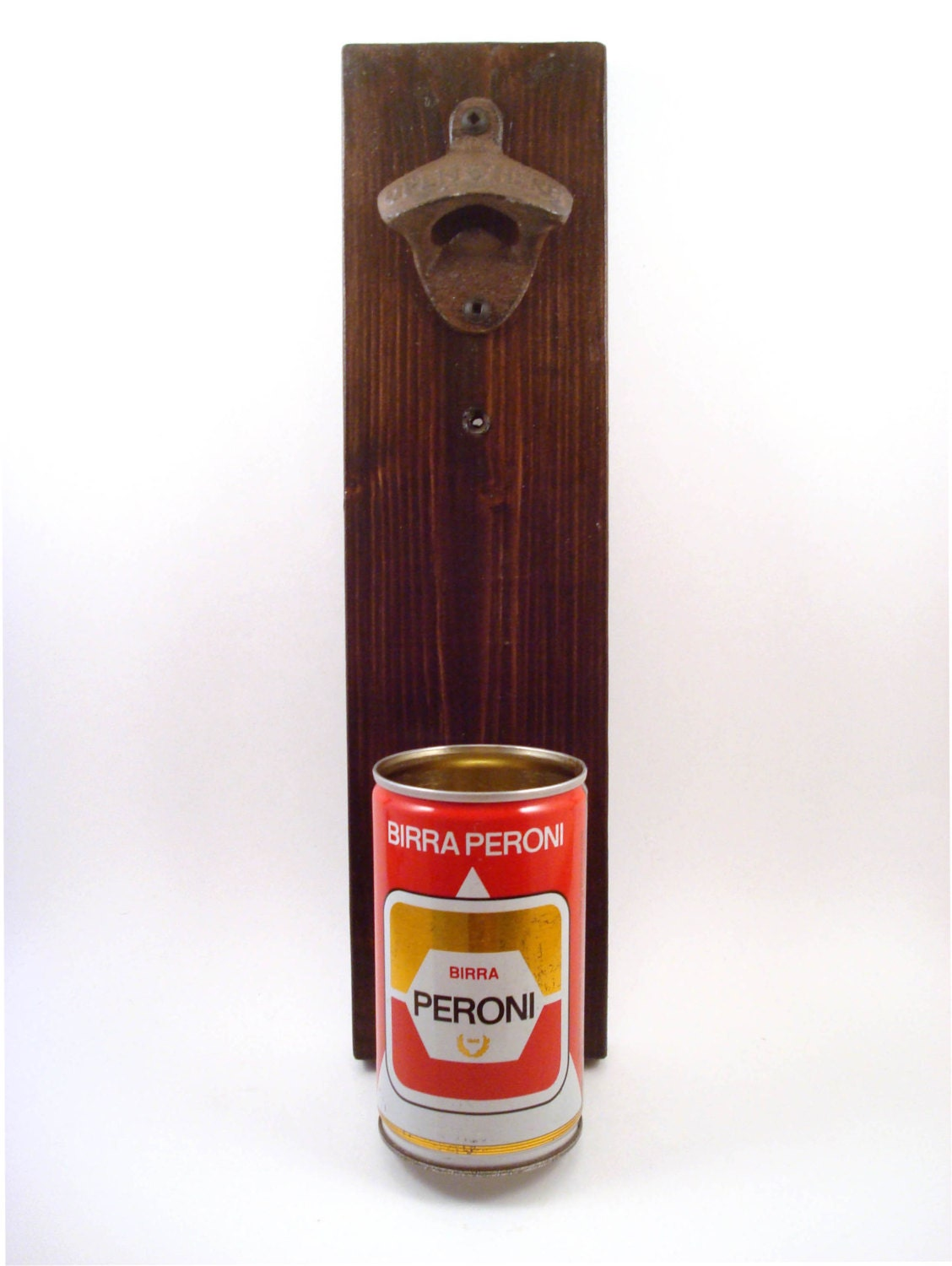 Vintage Birra Peroni Wall Mounted Bottle Opener With A Unique