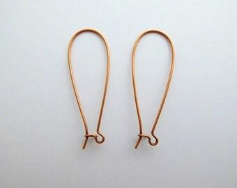 2 Pairs x Nunn Design Antique Copper Large Kidney Ear Wires. Kidney Earwires, Nunn Design Earwires, Copper Kidney Earwires EAR0020