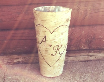 FLASH SALE: Rustic birch bark vase