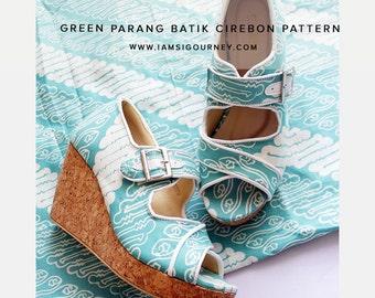 Tosca Open Toe Slip On Batik Wedges