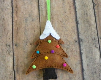 Felt Gingerbread Tree Christmas Tree Ornament