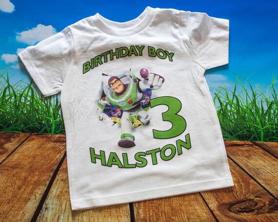Toy Story Buzz Lightyear Birthday T Shirt - Personalized Custom -