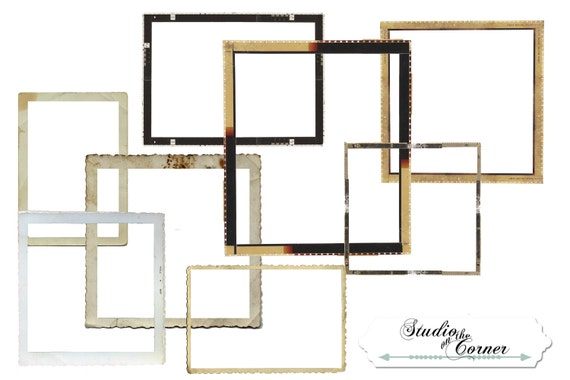 digital scrapbook frames film frames digital frames scrapbook frames vintage film frames from studioonthecorner on etsy studio