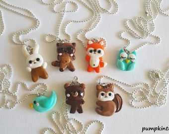 Kawaii Animal Cute Clay Necklaces