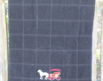 A Kitchen Towel with Horse and Buggy