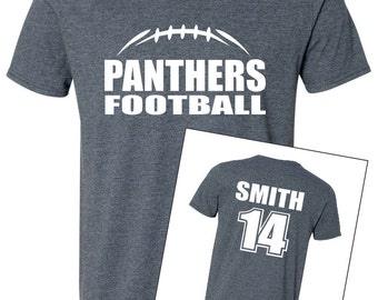 FOOTBALL SHIRT. Team Shirt. Mascot Shirt. V-Neck T-Shirt. Football Team Shirt. Sports Team. Football Laces Shirt. Football Team Shirt.